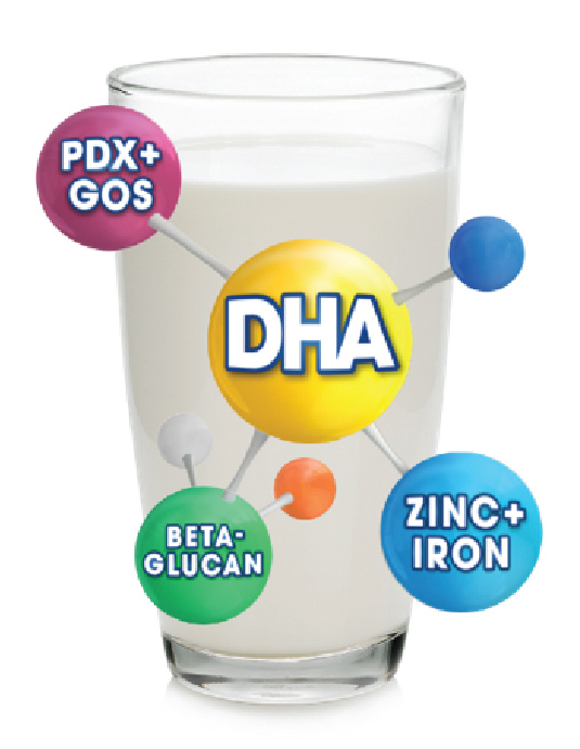 DHA formulated milk