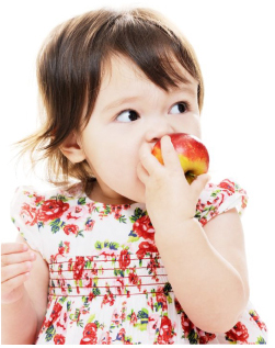 Toddlers learn eating from adults